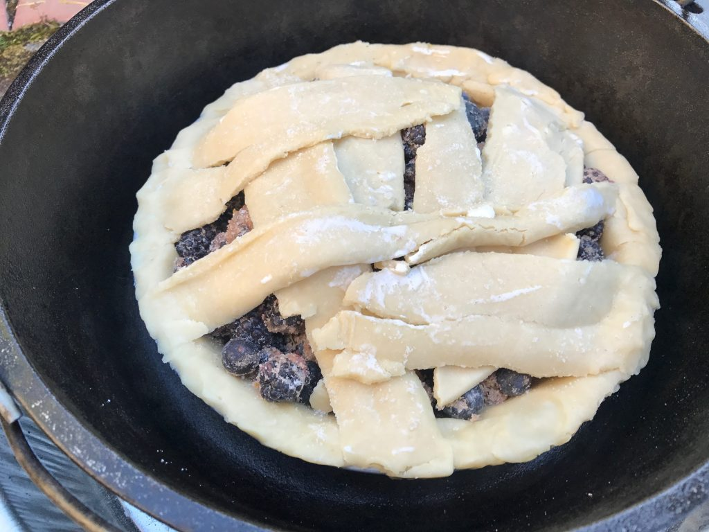 Berry pie in Lodge dutch oven